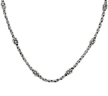 "JAI Sterling 18"" or 20"" Woven Link Chain Necklace"