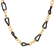 The Elizabeth Taylor Black and Goldtone Link Necklace