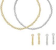 Judith Ripka Sterling or 14K Clad Necklace or Earrings - J56080