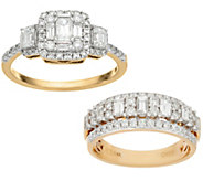 Affinity Diamond Band or Cluster Ring 14K Gold 1.00 cttw - J58680