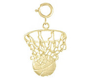 Basketball and Net Charm, 14k - J107181