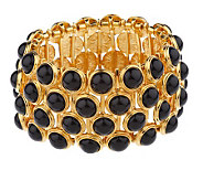 Linea by Louis DellOlio Black Bead Stretch Bracelet - J154281