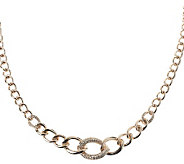 Melania Pave Style Crystal Curb Link Necklace - J262881