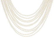Honora Cultured Pearl Multi-strand 18 Sterling Necklace - J268981