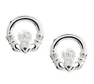 Solvar Sterling Silver Claddagh Earrings - J275981