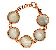 Honora Reversible Mother-of-Pearl Adjustable Bronze Bracelet - J277881