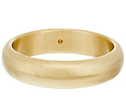 Oro Nuovo Average Brushed Satin Finish Domed Round Bangle, 14K - J281381
