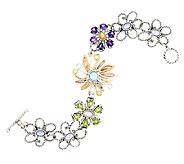 Carolyn Pollack Mixed Metal 4.30cttw Gemstone Toggle Bracelet - J289981