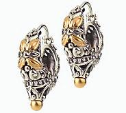 Barbara Bixby Sterling & 18K Carved Hoop Earrings - J292481