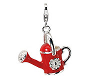 Amore La Vita Sterling Dimensional Red WateringCan Charm - J299981