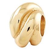 Prerogatives Gold-Plated Sterling Wrap Bali Bead - J302681