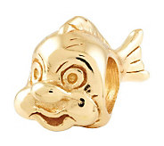Prerogatives 14K Yellow Gold-Plated Sterling Fish Bead - J302781
