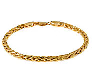 Veronese 18K Clad 8 Polished Wheat Chain Bracelet - J305581