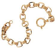 14K Gold 7-1/4 Polished Triple Rolo Link Bracelet, 8.2g - J321081