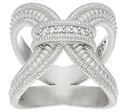 Judith Ripka Sterling Verona Diamonique Open work Ring - J326481