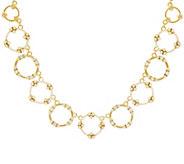 Judith Ripka 14K Clad 4.90 cttw Garland Diamonique 18 Necklace - J328081