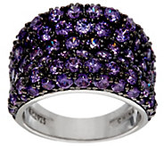 Diamonique Simulated Amethyst Band Ring, Sterling - J329181