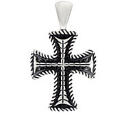 Sterling Silver Heart or Cross Bold Enhancer by American West - J330481