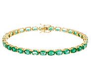 Ruby, Emerald or Sapphire 7-1/4 Tennis Bracelet 14K Gold - J331981