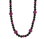 As Is Kenneth Jay Lanes Black & Sparkle Bead Necklace - J332481