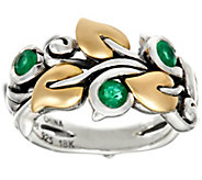 Ships 8/31 Barbara Bixby Sterling & 18K Precious Gem Vine Ring - J332581