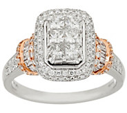 As Is Michael Beaudry 1.50 cttw Diamond Cushion Ring, 14K Gold - J334481