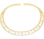 Judith Ripka 14K Clad 7.50 cttw Diamonique Collar Necklace - J334581