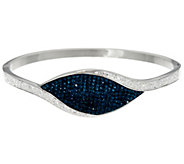 Stainless Steel Multi-Color Crystal Hinged Bangle - J335381