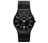 Skagen Mens Titanuim Black Mesh Bracelet Watch - J336281