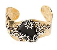 Carolyn Pollack Arbor Vine Sterling & Brass Gemstone Cuff - J336481