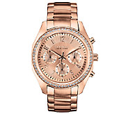 Caravelle New York Womens Rosetone & Crystal Bracelet Watch - J336581