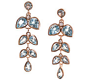 Graziela Gems Blue Topaz & Zircon Earrings, Sterling/18K Rose - J337081