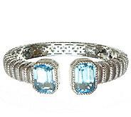 Judith Ripka Sterling 16.75 cttw Blue Topaz Cuff - J338681