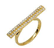 Adi Paz Crystal Double Row Bar Ring, 14K Gold - J339481