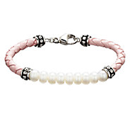 Honora Girls Cultured Freshwater Pearl & Leather Bracelet - J339881