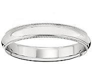 Platinum 4mm Milgrain Comfort Fit Wedding BandRing - J340281