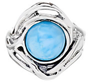 Hagit Sterling Silver Larimar Cabochon Ring - J340681