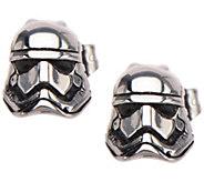 Star Wars Stainless Steel First Order Stormtrooper 3D Earrings - J342681