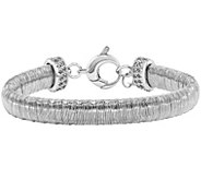 Sterling Silver Wire-Wrapped Crystal-Accented 6-3/4 Bracelet - J344281