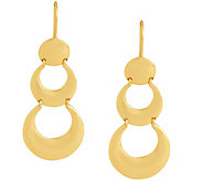 Sterling Double Crescent Drop Earrings by Silver Style - J345381