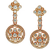 Judith Ripka 14K Rose Gold-Clad & Diamonique Dangle Earrings - J345781