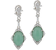 Judith Ripka Sterling Jade Drop Earrings - J349781