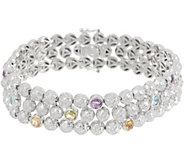 DeLatori Sterling Silver and Gemstone Bracelet - J354281