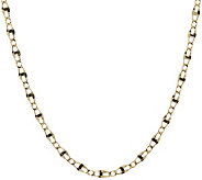 Vicenza Gold 24 Polished Marine Link Necklace 14K Gold 4.9g - J374781