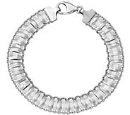 Sterling Textured Bracelet, 4.9g by Silver Style - J375781