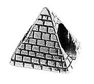 Prerogatives Sterling Pyramid Bead - J109082