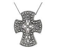 Suspicion Sterling Marcasite Cross Pendant with18 Chain - J112482