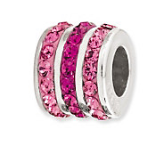 Prerogatives Sterling Fuchsia Crystal Small Barrel Bead - J113182