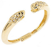 Kenneth Jay Lanes Ferocious Jaguar Bangle - J149482