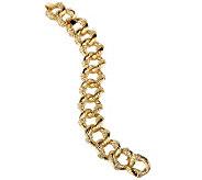 Jacqueline Kennedy Rope Style Crystal Link Bold Bracelet - J159982